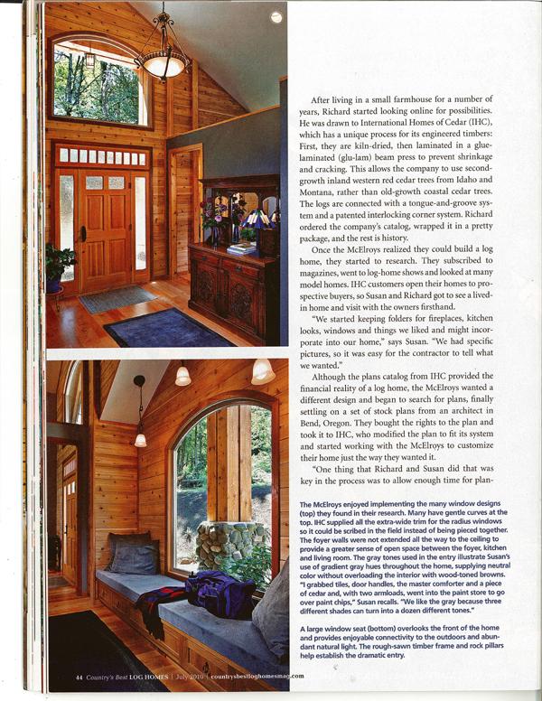 We Re In Log Homes Magazine Olson Jones 39 S Remodel Pdx
